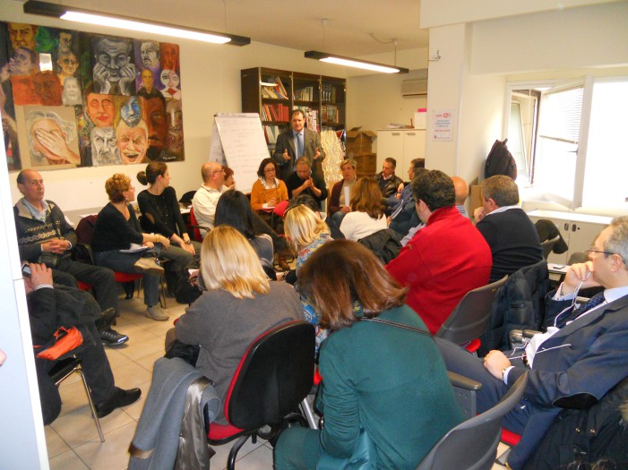 Roma 8 Marzo 2013 – Presso il saloncino della Fisac di Via Buonarroti – attivo assicurativo di Roma e del Lazio