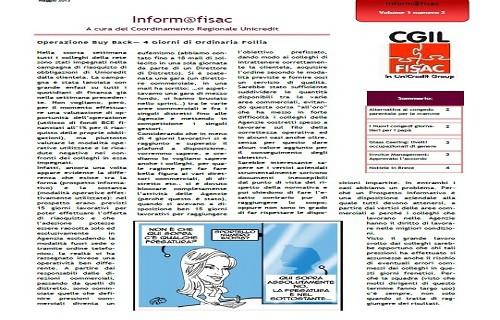 E.R. Inform@fisac Unicredit Emilia Romagna numero Maggio 2013