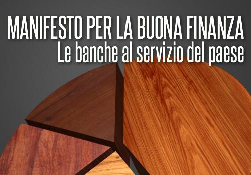 Il Manifesto per la buona finanza
