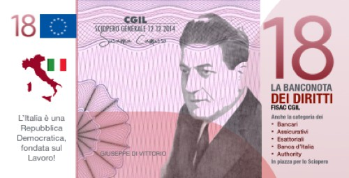 Fisac: allo #ioSciopero Generale con la Banconota di Diritti