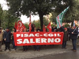 Sit-in Salerno – Sciopero Credito Cooperativo 2 marzo 2015