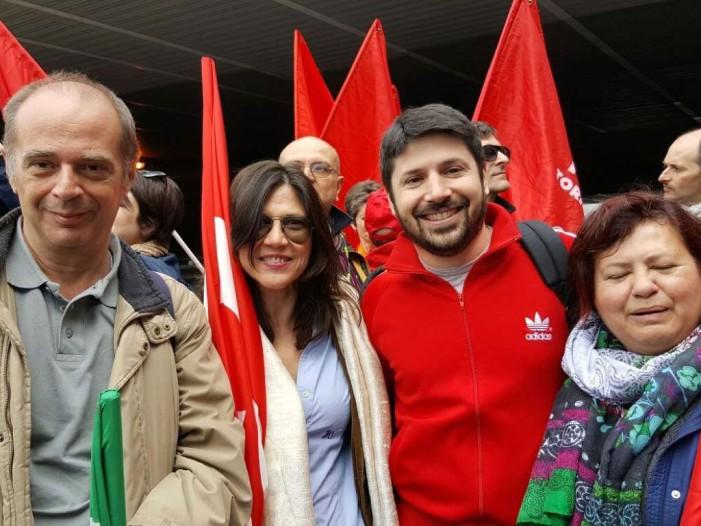 Sciopero, grande manifestazione del Gruppo Unipol