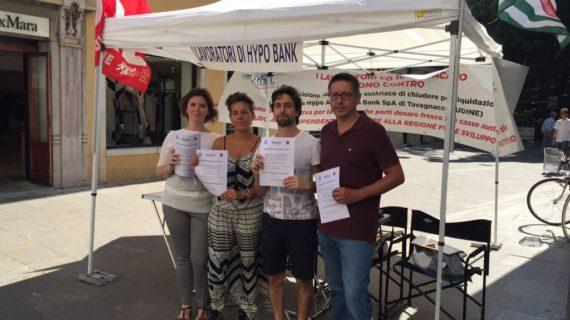 Hypo Bank: il 12 settembre a Roma con le firme raccolte