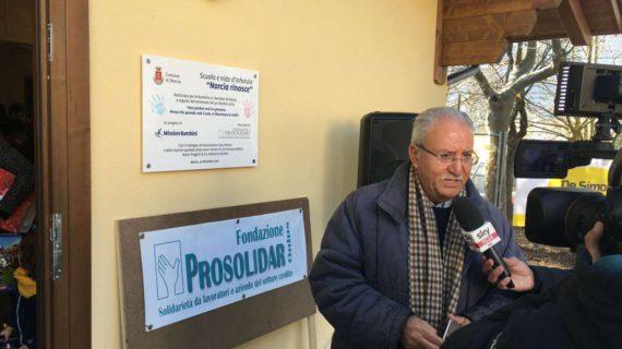 Fondazione Prosolidar: consegnata la scuola per bimbi Norcia