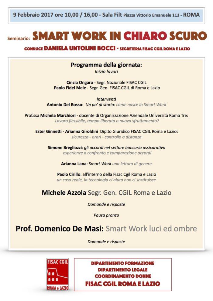 Fisac Lazio – Seminario Smart Work in chiaro scuro