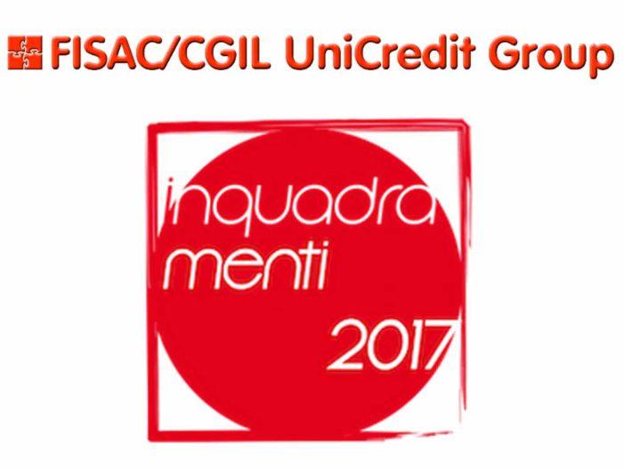 Gruppo Unicredit: lettera integrativa del 21/2/2017 (Accordo inquadramenti)