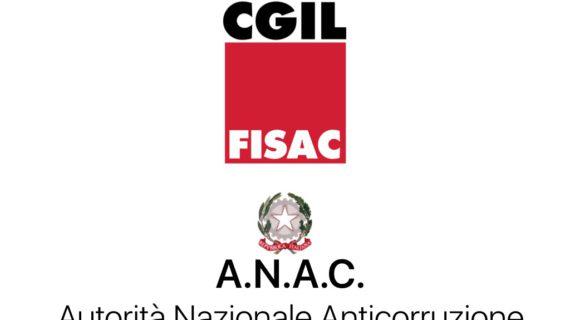 ANAC: firmata con l'Amministrazione un'intesa sul primo inquadramento del personale