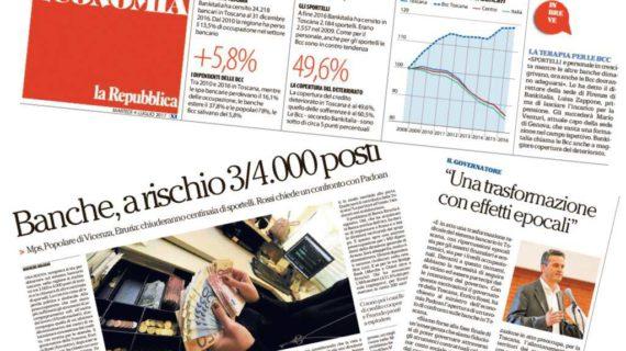 Tavolo sul credito: Toscana, banche a rischio 3/4 mila posti. Rossi chiede incontro con Padoan