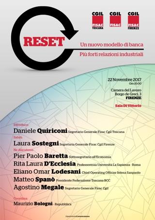 Reset – Un nuovo modello di banca, più forti relazioni industriali