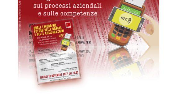 """Lazio – """"Quale lavoro nel futuro delle banche e delle assicurazioni"""""""