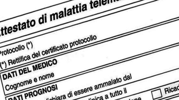 Gruppo Unipol: presentazione certificato di malattia