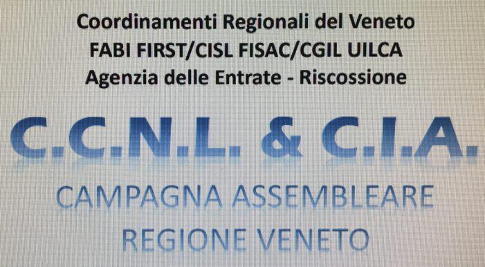 Veneto: rinnovo CCNL e CIA esattoriali, al via le assemblee.