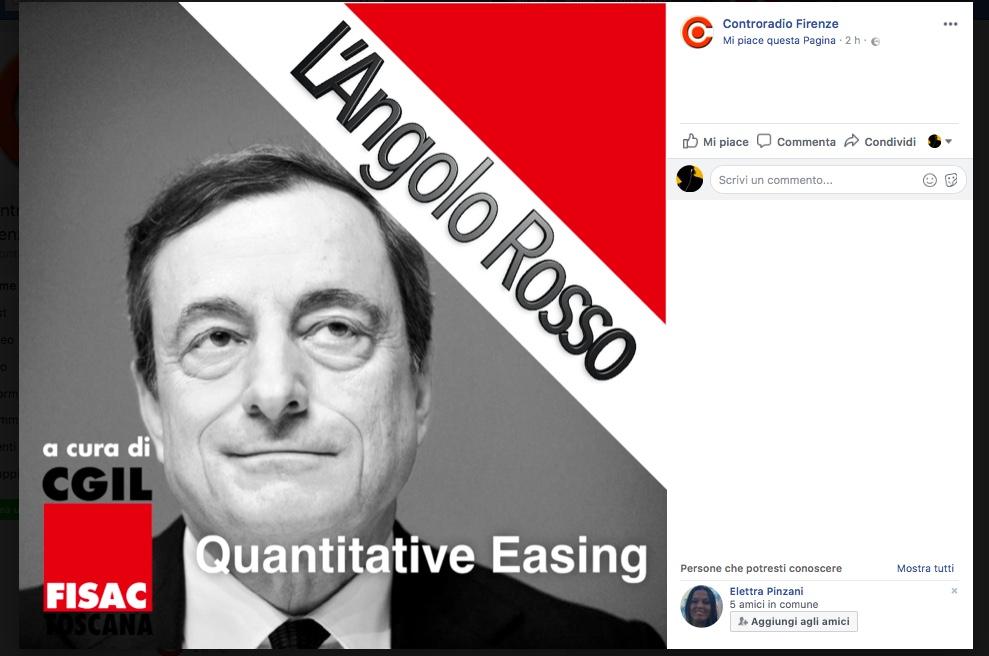 L'Angolo Rosso e il Quantitative Easing