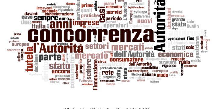 AGCM: Relazione annuale Presentazione del Presidente Giovanni Pitruzzella