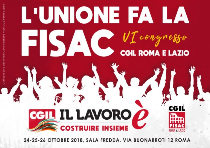 Lazio – VI Congresso Fisac Cgil Roma e Lazio