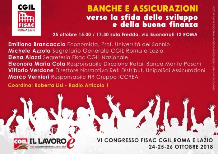 Lazio – Banche e Assicurazioni – Tavola rotonda
