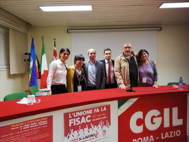 Lazio – Eletta la nuova Segreteria della Fisac Cgil di Roma e Lazio