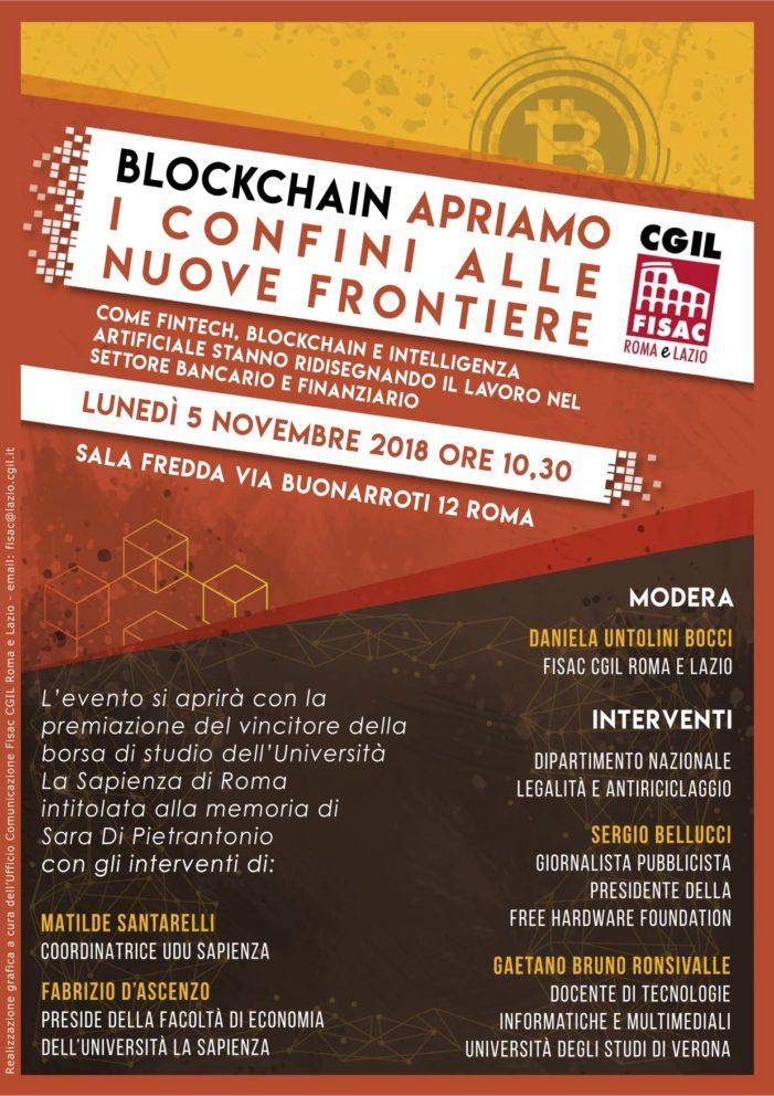 Lazio – Iniziativa Fisac Cgil Roma e Lazio – Blockchain