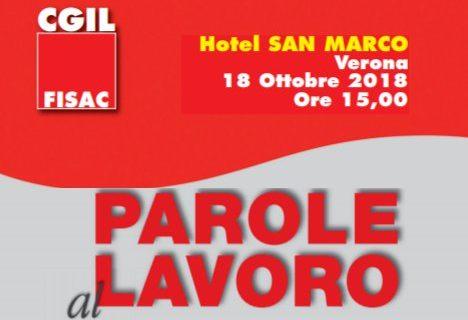 Parole al lavoro: Presentazione 18 ottobre, Verona