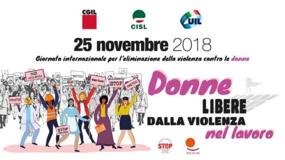 25 novembre 2018: Giornata Internazionale per l'eliminazione della violenza contro le donne