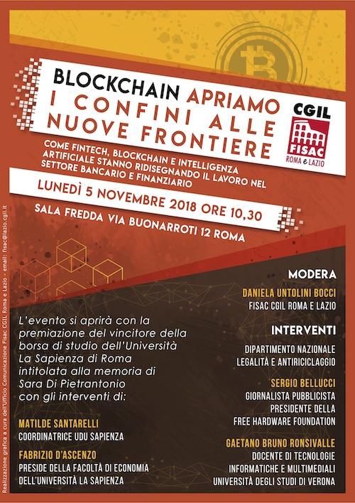 Lazio-iniziativa Fisac Roma e Lazio – Blockchain