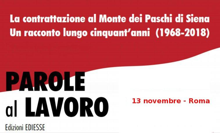 """Presentazione libro """"Parole al lavoro"""" – 13 novembre, Roma"""