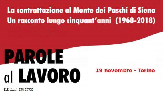 """Presentazione libro """"Parole al lavoro"""" – 19 novembre, Torino"""