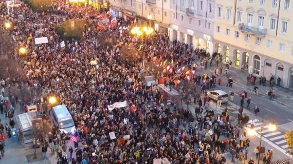 Trieste: manifestazione antifascista