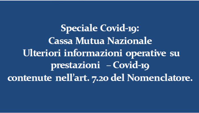 Cassa Mutua Nazionale BCC: Speciale Covid-19 Ulteriori informazioni operative su  prestazioni