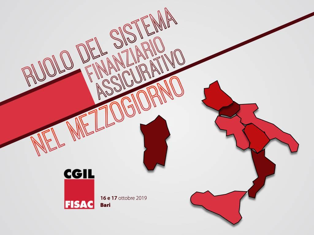 """Bari 16 e 17 ottobre """"Ruolo del sistema finanziario assicurativo nel Mezzogiorno"""""""