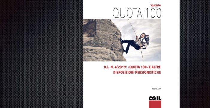 """""""Quota 100"""" e altre disposizioni pensionistiche"""
