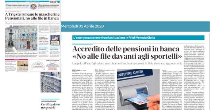 Dichiarazione della Segretaria Generale Fisac Friuli Venezia Giulia Elisabetta Faidutti