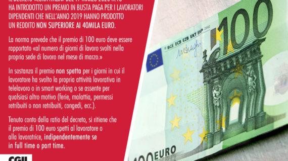 BONUS 100 euro in busta paga a marzo