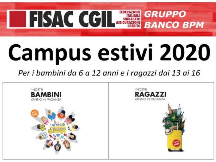 Banco BPM: campus estivi 2020