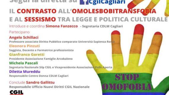 CGIL Cagliari: il contrasto all'omolesbobitransfobia e al sessismo tra legge e politica culturale