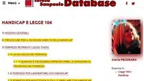 Intesa Sanpaolo: aggiornamento guida Legge 104