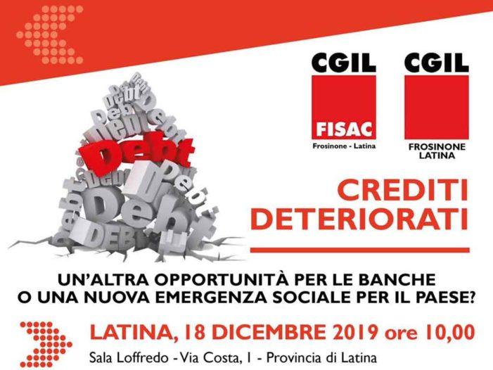 Latina: Iniziativa Fisac Cgil sui Crediti Deteriorati