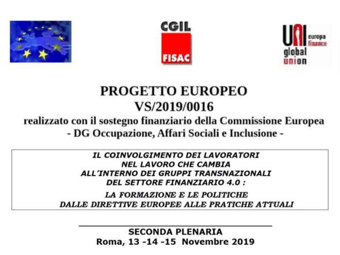 Progetto Europeo VS/2019/0016: Seconda Plenaria