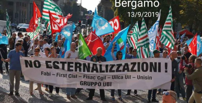 Esternalizzazioni UBI: comunicato sull'esito delle iniziative