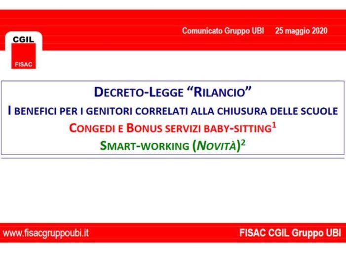 UBI: Comunicato Fisac sul Decreto-Legge 'Rilancio'
