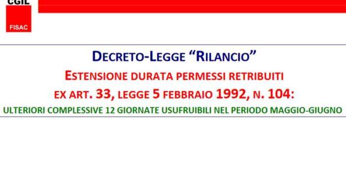 UBI: seconda scheda Fisac sul Decreto-Legge 'Rilancio'