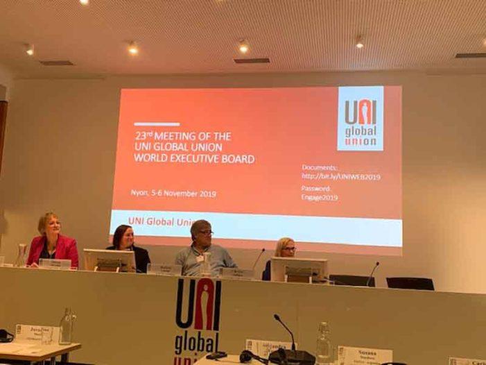 Report riunione comitato esecutivo mondiale Uniglobal