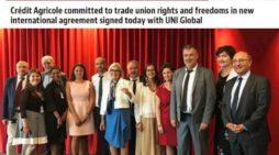 Uni Global firma un Accordo Quadro Globale con il Gruppo Crédit Agricole