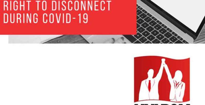 Uni Global: Right to disconnect during Covid-19 / Diritto di disconnessione durante Covid-19