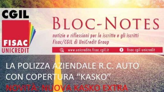 Unicredit: 'BLOC NOTES' – Polizza Kasko